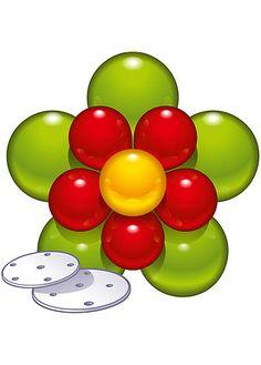 Ballon-Deko-Set Flower