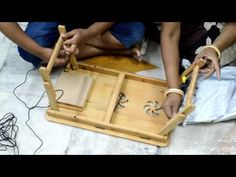 Unboxing of Multipurpose Foldable bamboo wood Laptop table and study table Folding Study Table, Porta Notebook, Origami Furniture, Multifunctional Furniture, Laptop Table, Wood Lathe, Wooden Decor, Woodworking Crafts, Wood Projects