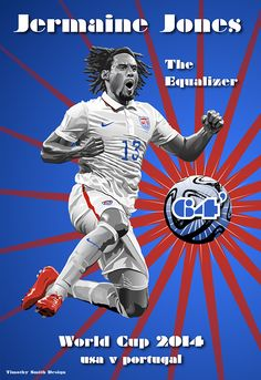 Illustrated Jermaine Jones Poster  by Timothy Smith, via Behance