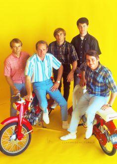 The Beach Boys at a Honda swagfest, c. 1965.