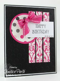 Creatively Candace: - Black Cardstock-for Mom Homemade Birthday Cards, Happy Birthday Cards, Homemade Cards, Card Birthday, Scrapbook Paper Crafts, Scrapbook Cards, Embossed Cards, Paper Cards, Diy Paper