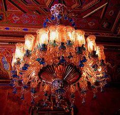 Crystal chandelier, Istanbul, the Beylerbeyi Palace
