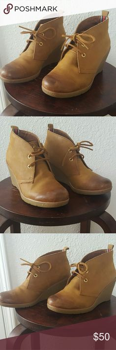 Sperry Wedge Ankle Boots Womens Sperry Wedge Ankle Boots. Only worn a few times. In excellent condition. Camel tan in color. Sperry Top-Sider Shoes Ankle Boots & Booties