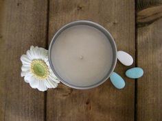 10 Baby Shower Favor Candles 4oz Tin di EstherEssenceCandles