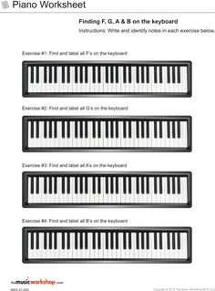 Kids Printable Piano Practice Sheet