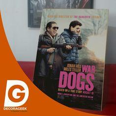 Póster de Cinema Original War Dogs version cinemas de USA. Compralo DecoraGeek.com