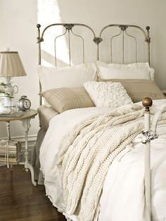 off white neutral bedroom decor rustic shabby chic