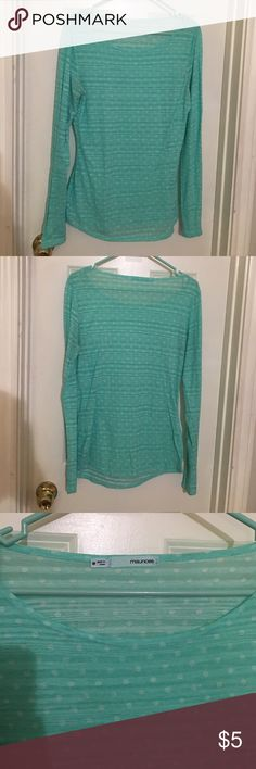 Lightweight long-sleeve polyester top Lightly worn, great condition. Great for layering! Maurices Tops