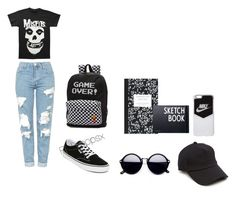 """""""2016 School Fit 3"""" by pinkypopsx on Polyvore featuring Topshop, Vans, NIKE, Dot & Bo, Design Letters and rag & bone"""