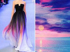 Artist Compares Haute Couture Dresses with Nature