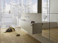 Lacquered wall-mounted wooden vanity unit Via Veneto Collection by FALPER | design Falper Design
