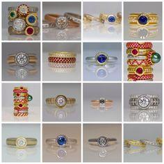 Stunning rings made by David Ashton, London