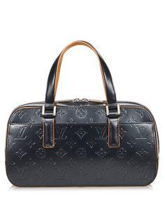 Vintage Louis Vuitton - Shelton blue monogram leather grab bag - Secretsales.com