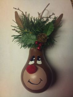 Christmas Ornament :)   Carol, you could do this on a gourd.