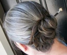 The Long Hair Community Discussion Boards Grey Hair Don't Care, Long Gray Hair, Black Hair Dye, White Hair, Long Hair Community, Grey Hair Journey, Grey Hair Inspiration, Easy Updos For Long Hair, Loose French Braids