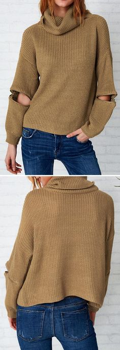 Girl chic look,$26.99! Free shipping & Easy Returns + Refund! Once wearing this, you will get this paradise-like feeling. This turtle neck&zipper splicing sweater is just made for angels like you. Take it Now!
