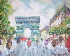 RARE CHEVALIER FRENCH IMPRESSIONIST PARIS OIL PAINTING