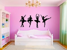 Great Cost-Free Dancing Ballerinas Girls Nursery Dance Room Vinyl Wall Graphics Thoughts Mind scientists have viewed dancers in the top and found: they train essential abilities and lower Nursery Room, Girl Nursery, Girl Room, Teen Girl Bedrooms, Kids Bedroom, Bedroom Decor, Large Bedroom, Dream Bedroom, Wall Decor