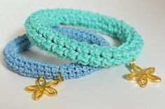 crochet bracelet with charms - Google Search