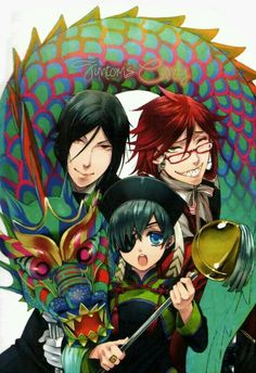 Read Kuroshitsuji That Butler, Fighting Bravely online. Kuroshitsuji That Butler, Fighting Bravely English. You could read the latest and hottest Kuroshitsuji That Butler, Fighting Bravely in MangaHere. Grell Black Butler, Black Butler Kuroshitsuji, Ciel Phantomhive, Manga Anime, Sebastian Ciel, Anime Cover Photo, Book Of Circus, Japanese Poster Design, Version Francaise