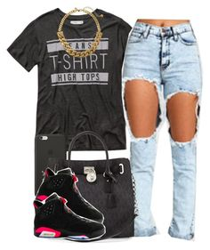"""""""."""" by trillest-queen ❤ liked on Polyvore featuring Abercrombie & Fitch, Black Apple, MICHAEL Michael Kors, NIKE and Kate Spade"""
