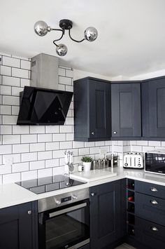 Marble and Navy Kitchen - Chelcie Nicole M