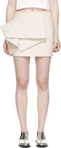 Marc by Marc Jacobs Beige Origami Tailored Mini Skirt