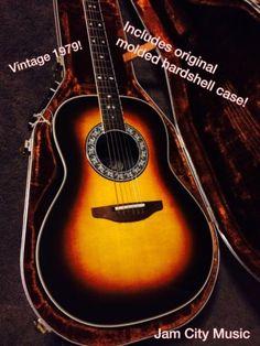Vintage 1979 Ovation Bowl Back Legend 1617 Acoustic Electric Guitar, OHSC