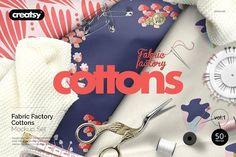 Fabric Factory vol.1: Cotton Mockup  by creatsy5 on @creativemarket