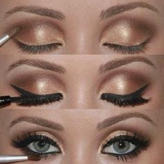 Gold Wedding Makeup.  perfect eyelashes