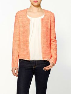 How to Wear 3 of Spring's Hottest Trends Tweed Jacket, Sweater Jacket, Blazer Jacket, Fall Outfits, Fashion Outfits, Women's Fashion, Chanel Jacket, Spring Trends, Her Style