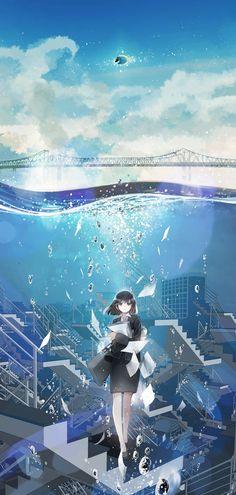 images for illustration anime art Manga Art, Anime Manga, Style Anime, Scenery Wallpaper, Anime Scenery, Anime Artwork, Amazing Art, Fantasy Art, Cool Art