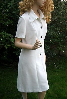 Vintage uk 16/18 mod 1970s midi #a-line #cream #dress st michael bionic woman,  View more on the LINK: 	http://www.zeppy.io/product/gb/2/252116642256/