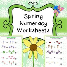 Numeracy / Math worksheet bundle related to 'spring'. No prep needed, just print and hand to pupils.Addition Worksheets (2 pages)Numeracy Worksheets (2 pages)Multiplication Worksheets (2 pages)Counting Worksheets (10 pages)This product is included in my spring bundle found here