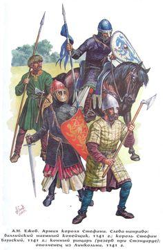 Cavalieri e fanti normanni o francesi, XII secolo