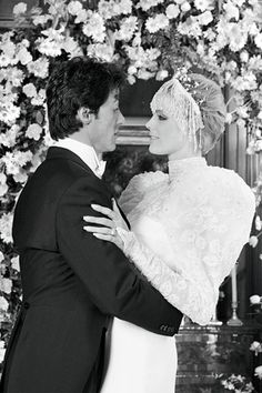 Sylvester Stalone and Brigitte Nielson on their wedding day.