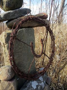 Prairie DeLuxe...Barb Wire and Horseshoe by themadprairietinker