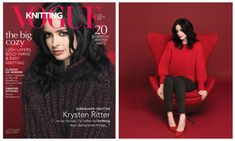 Knit the Sweater Krysten Ritter is Wearing in the Latest Issue of Vogue Knitting