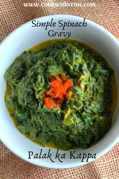 Palak ka kaapa is an easy and nutritious Spinach gravy from the state of Uttarakhand. It is a no onion no garlic gravy and can be enjoyed with Roti or Rice. It is gluten-free and if ghee is substituted with oil and one uses vegan yogurt it is even a delicious vegan curry. One of a quick and delicious regional curry, done in less than 15 mins. . #Palak #Spinach #regionalcuisine #vegetable #vegetarianrecipe #recipe #uttarakhand #Indianrecipe #desirecipe #easyrecipe #onepotrecipe #healthy… Vegetarian Protein, Vegetarian Recipes, North Indian Recipes, Ethnic Recipes, Bourbon Biscuits, Recipe Filing, Vegan Curry, Chopped Spinach, Gluten Free Recipes