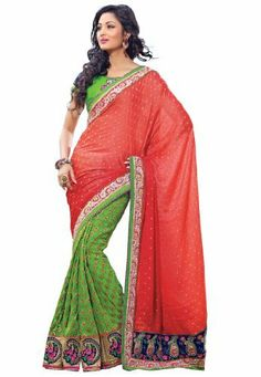 Indian Designer Wear Viscose Jacquard Multicoloured Embroidered Saree Fabdeal, http://www.amazon.de/dp/B00J0V17QQ/ref=cm_sw_r_pi_dp_p46otb11CX266