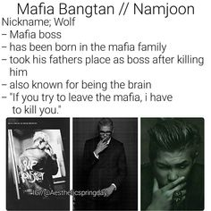 BTS Kim Namjoon RM Imagine Mafia Bangtan