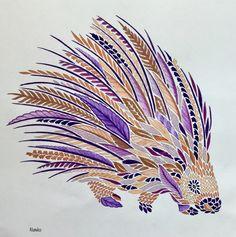 My coloring Millie Marotta Curious creatures Porcupine Porc-épic
