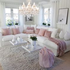 70 Super Ideas For Living Room Grey Vintage Shabby Chic Romantic Living Room, Elegant Living Room, Living Room Grey, Interior Design Living Room, Living Room Designs, Cozy Living, Pink Living Rooms, Blush Pink Living Room, Bright Living Room Decor
