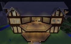Modern Mansion in Minecraft Modern Minecraft Houses, Minecraft House Plans, Minecraft Structures, Minecraft Mansion, Minecraft Houses Blueprints, Minecraft House Designs, Minecraft Architecture, Minecraft Creations, Minecraft Buildings