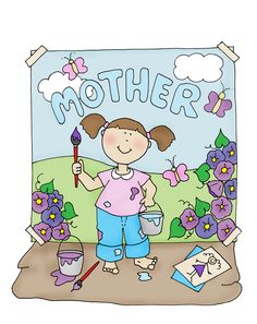 Free Dearie Dolls Digi Stamps: Here's one for Mother's Day....