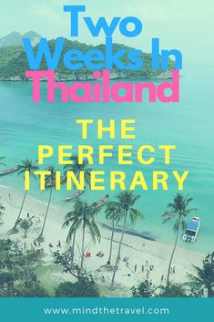 Planning your stay in Thailand can be a challenging task. When to go? What to eat? Which places to see? The list goes on. To help you minimize travel overwhelm I've put together a post on how to spend two weeks in Thailand: The Perfect 14-day itinerary. So let's get started!