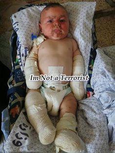 Palestinian toddler in Gaza.