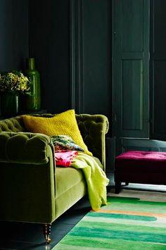 rincones de lectura #verdeolivo #rosa #amarilo