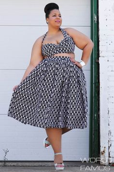 Plus size crop top, crop top, Black and white