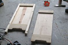 wooden bench sides